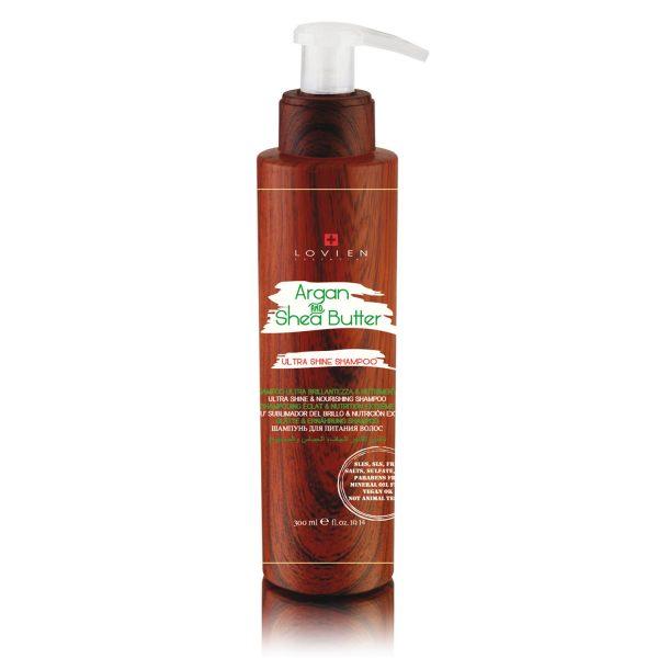 Shampoo brillantezza nutrimento argan & karitè Lovien
