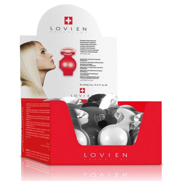 Box 24 campioni shampoo maschera Lovien