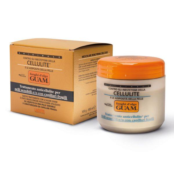 Fanghi d'alga Guam pelli sensibili capillari fragili