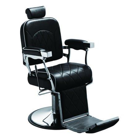 Poltrona da barbiere barber's chair black Lovien