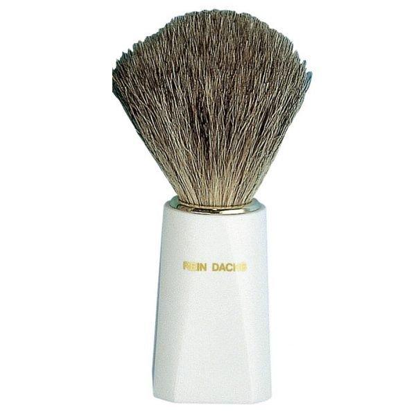 Pennello da barba setola in puro tasso bianco
